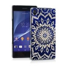Ethnic Floral Pretty Funny UV Black Bag Case For Sony Z2