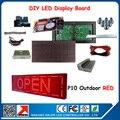2 шт. P10 открытый красный из светодиодов дисплей жк-модули с из светодиодов дисплей контрольную карту, Мощность, Кабель для передачи данных diy из светодиодов дисплей вывеска