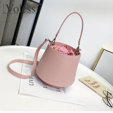 2019 New Arrival Bucket Bag Famous Brand Women Bag Shoulder Bag High Quality PU Leather Handbags Fashion Solid Crossbody Bags
