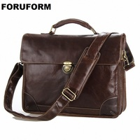 Guaranteed 100 Real Genuine Leather Men S Briefcase Laptop Dispatch Travel Tote Bag Business Bags Factory