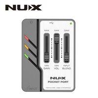 NUX Pocket Port Portable Guitar USB Audio Interface 192kHz/24bit USB Audio Interface Professional Guitar Accessories