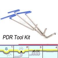 3PCS Push Rods Tool Kit for Car Dent Removal Paintless Dent Repair Hand Tool Set Door Dings Hail Repair Crowbar PDR Tools Hooks