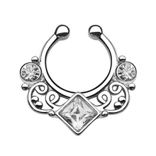 Stainless Steel Clip On Fake Septum Clic