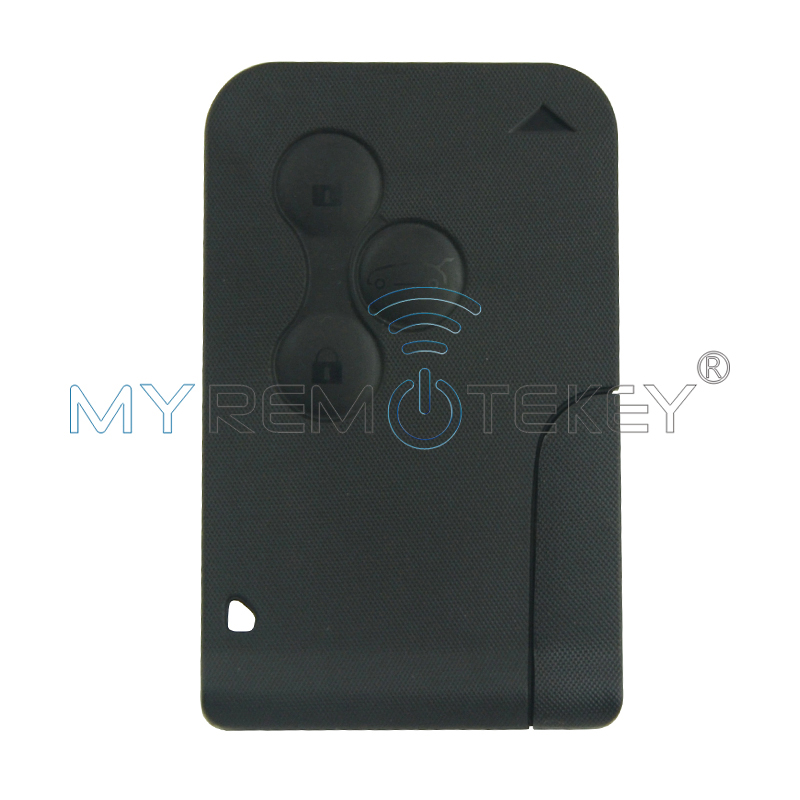 Smart key card for Renault Megane II Scenic II Grand Scenic 2003 2004 2005 2006 2007 2008 433mhz PCF7947 3 button remtekey