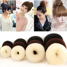 4 Sizes Women lady girl headband Hair Styling Ring Style Dispenser Buns Head Tool Hair Ring for women hair accessories hairband(China)