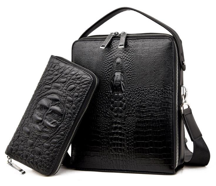 Fashion Genuine Leather Briefcase For Business Men Laptop Handbag Large Capacity Travel Bag Solid Famous Brand Shoulder Bag jacodel business large crossbody 15 6 inch laptop briefcase for men handbag for notebook 15 laptop bag shoulder bag for student