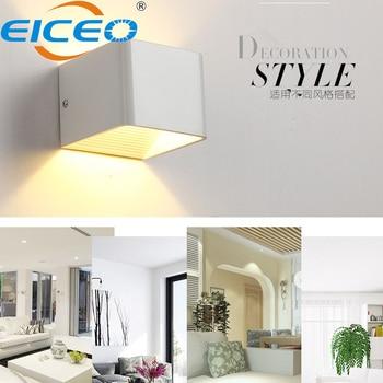 Lámpara LED de pared de arriba y abajo 2020, 6W, modernas y creativas lámparas clásicas de pared blancas para pasillo, iluminación de salón y dormitorio