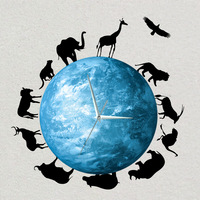 The Glowing Moon Clock DIY Luminous Home Decoration Wall Clock Art Design Wall Stickers Bed Room