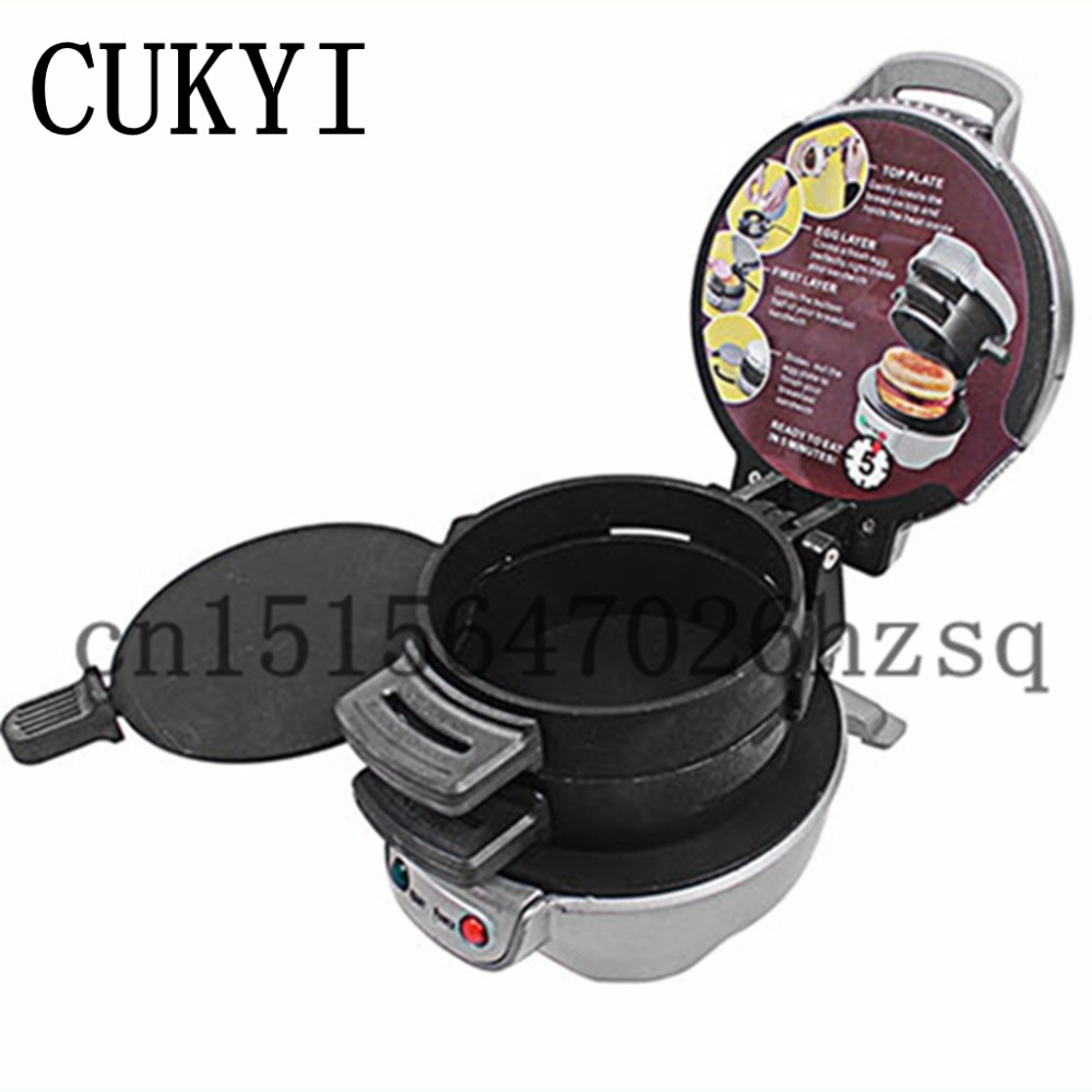 CUKYI Electric Burger Express Hamburger Press sandwich maker machine 220V 700W cook bacon Breakfast commercial electric oden maker kanto cook maker iron machine chinese popular malatang cook machine