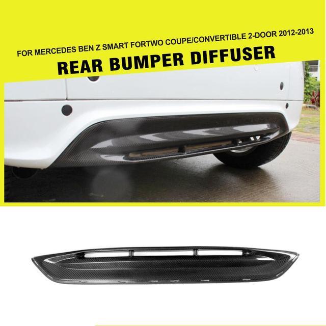 Car Style Carbon Fiber Rear Auto Car Diffuser Rear Bumper Lip Guard