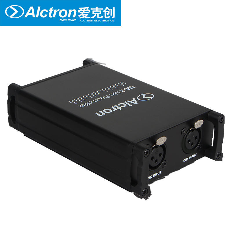 buy professional mic preamplifier alctron ma 2 dual channel dynamic passive. Black Bedroom Furniture Sets. Home Design Ideas