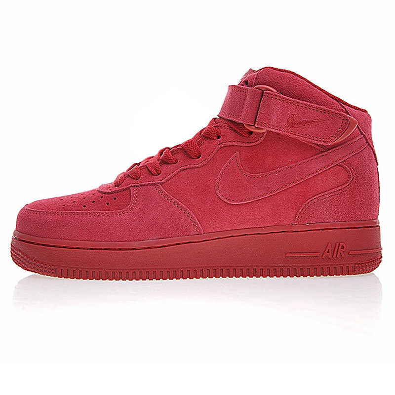best sneakers d4495 04fe4 ... Nike Air Force 1 Mid AF1 Men s Skateboarding Shoes, Breathable Shock  Absorbing Non-slip ...