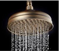 8 inch antique brass Round Rainfall Shower Head Water saving shower head
