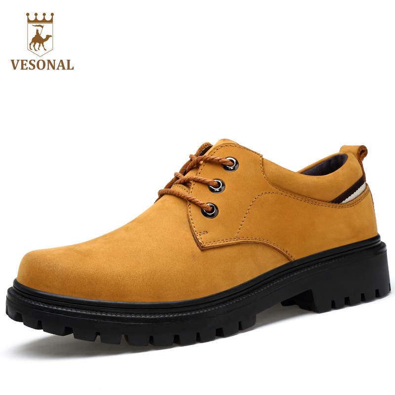 VESONAL Hot Sale 2017 Casual Shoes Adult For Men Autumn Winter 100% Genuine Leather Walking Brand High Top Quality Footwear Man hot sale 2016 top quality brand shoes for men fashion casual shoes teenagers flat walking shoes high top canvas shoes zatapos