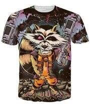 RageOn Nicolas Cage Rage Faces 3D Print T shirt Casual Cotton Rocket Raccoon Tee Shirts Short