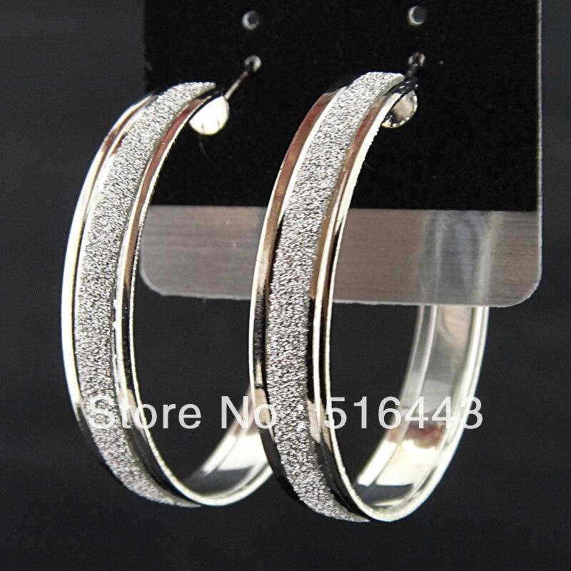 Подвески 12 пар модные серебряные P матовые серьги-кольца для женщин бижутерия оптом A-646