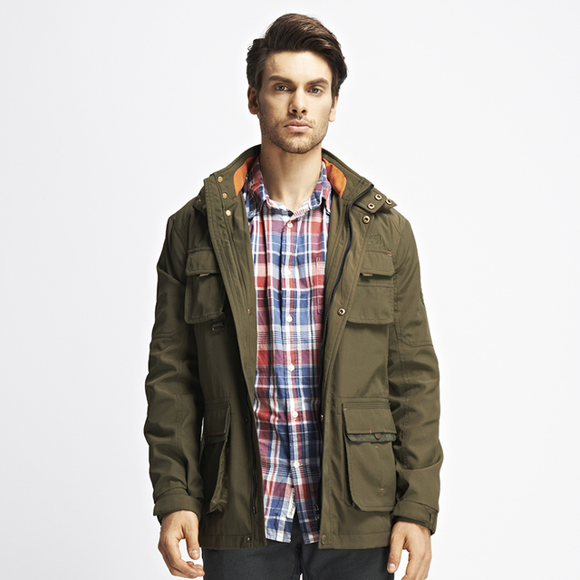 0155c9b7f8a Men s Jacket 2015 Spring New Arrival Jacket With Hood Fashion Casual Jacket  Mens Military Jacket Mens