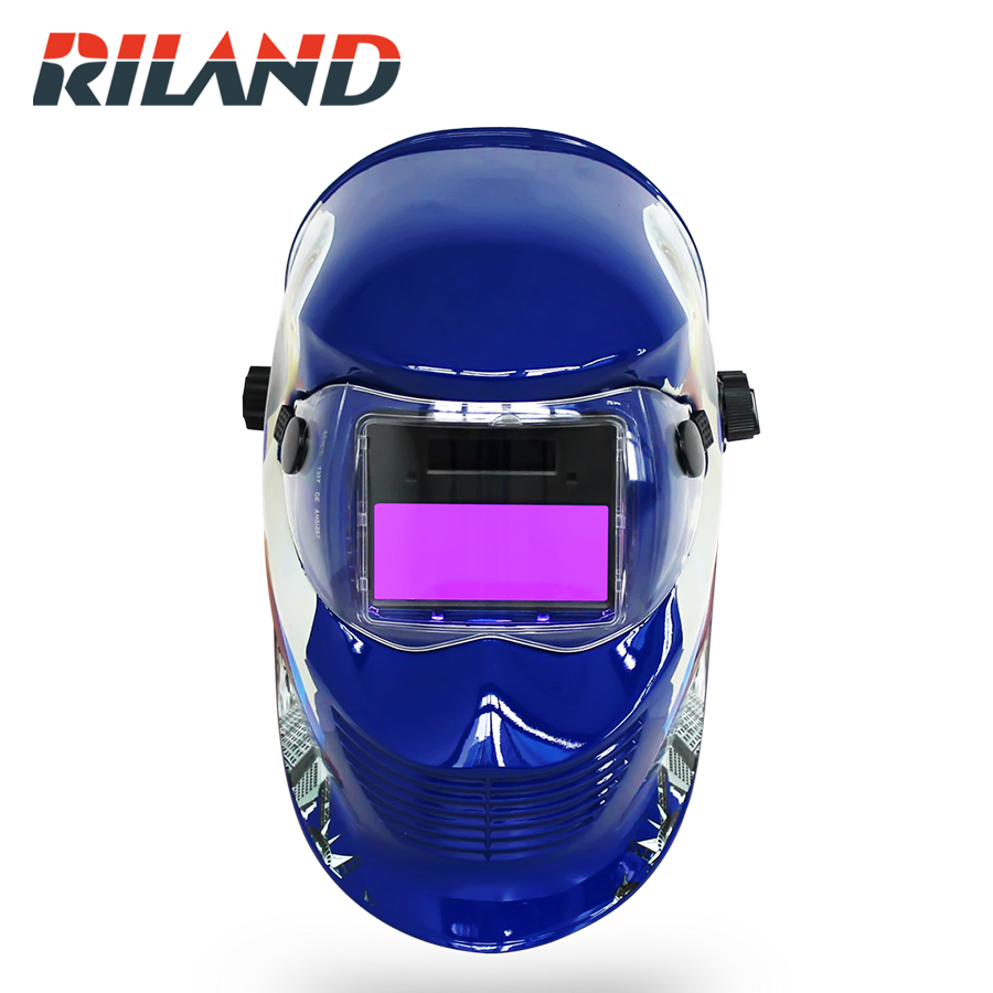 RILAND Eagle Welding Mask  Solar Auto Darkening TIG MIG ARC Welding Helmet Mig Welder Soldering Mask Welding Mask Auto Darkening welding helmet welder cap for welding equipment chrome for free post