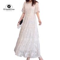 Women Dress White Long Dress Casual Female Clothing 2019 Silk Summer Dresses Vestidos