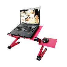 Multi Funktionale Ergonomische mobile laptop tisch stehen für bett Tragbare sofa laptop tabelle faltbare notebook Schreibtisch mit maus rack