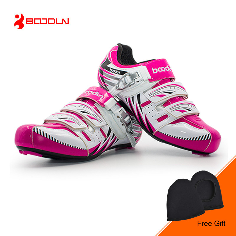 BOODUN New Winter Cycling Sport Shoes Women Road Bike Bicycle Shoes Self-locking Soft Sneakers Riding Shoes Sapatos Zapatos santic new design cycling shoes men outdoor road bike shoes self locking shoes non slip bicycle shoes sapatos with 3 colors