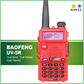 Red BaoFeng Walkie Talkie UV-5R Pantalla Dual de Radio de Doble Banda VHF: 136-174 MHz y UHF: 400-520 MHz 5 W FM Transmisor-Receptor Portátil