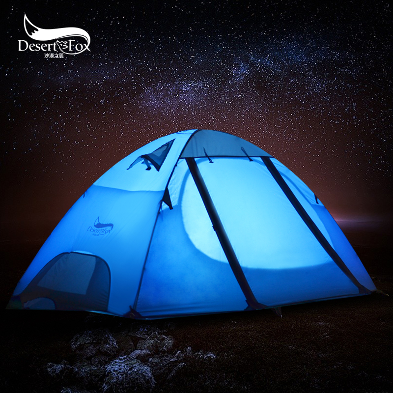 Desert Fox Backpacking Camping Tent 2 3 Person Aluminum Poles Large Space Waterproof Double Layer for