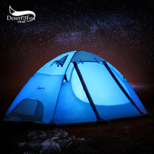 Desert&Fox Backpacking Camping Tent 2-3 Person Aluminum Poles Large Space Waterproof Double Layer for Hiking, Travel