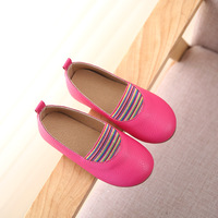 Girls White Dress Shoes Solid Princess Shoes Light Leather Korean Students 3 Color Baby Leather Shoes