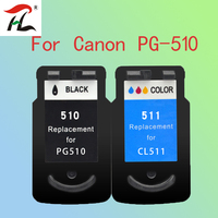 YLC PG510XL CL511XL Compatible canon PG510 CL511 Ink Cartridge For PIXMA IP2700 MP230 MP240 MP250 MP260 MP270 MP280 printer