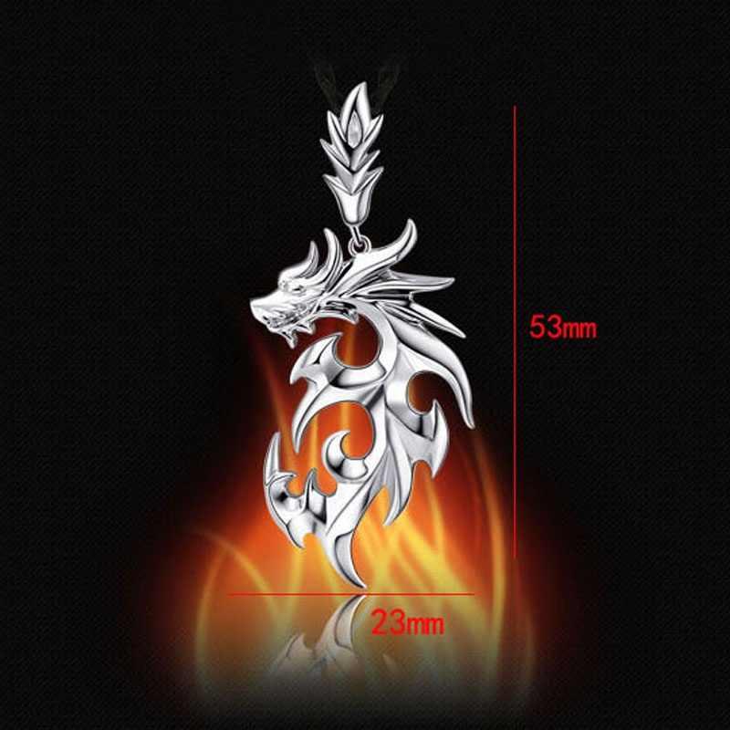 Baru Kedatangan Kalung Pria Merk Dragon Liontin Kalung Fashion Perhiasan Collares Largos Bintang Pesawat Burung