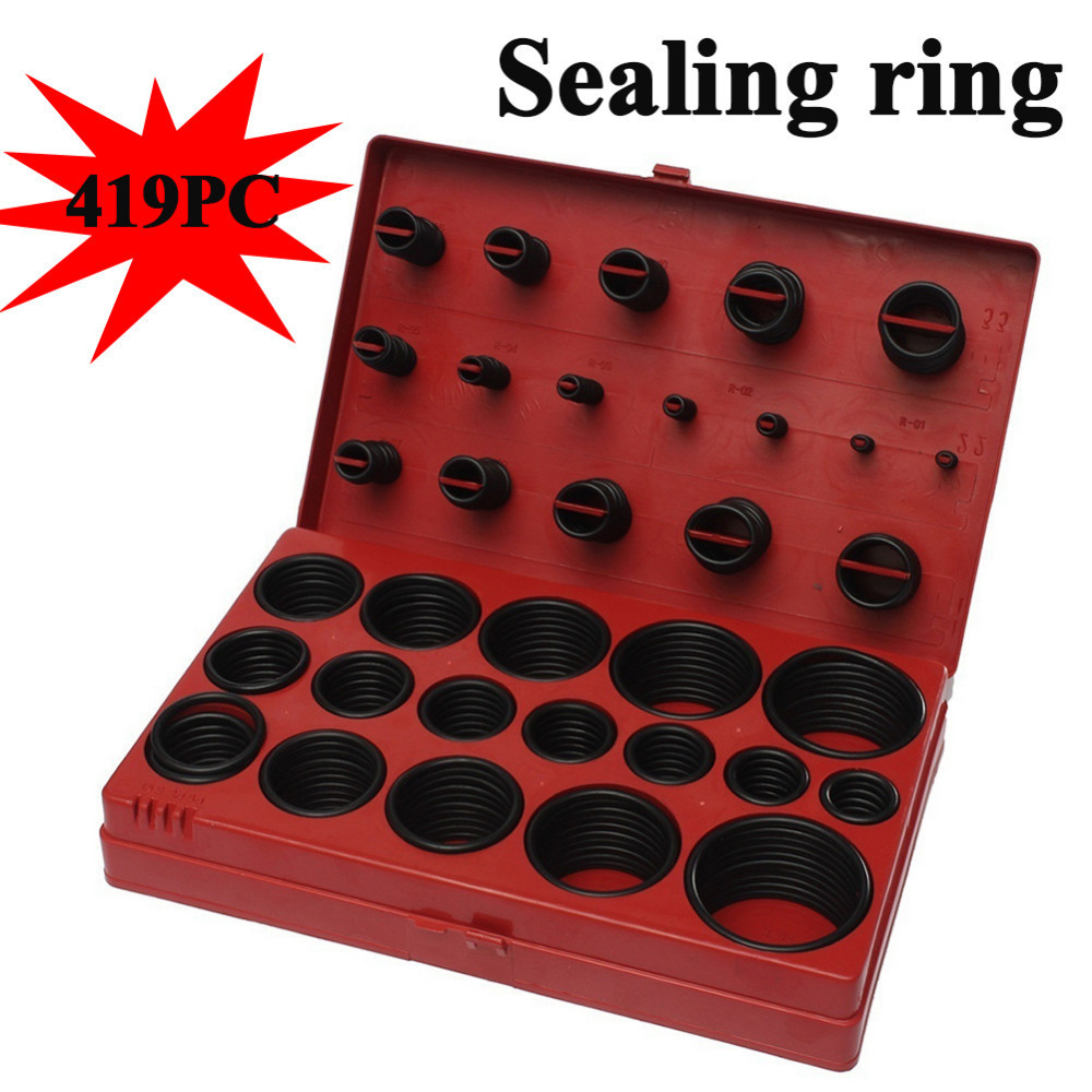 419 pcs o-ring Sealing ring Suit combination Nitrile butadiene rubber Oil resistant Vehicle maintenance and repair tool box 10pcs lot 9x5x2 mm o rings rubber sealing o ring 9mm od x 2mm cs