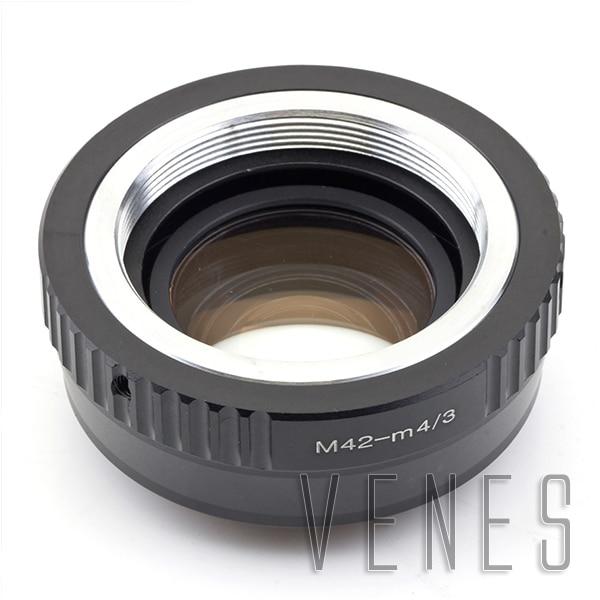 VENES M42 objektiv pro M4 / 3 Focal Reducer Speed Booster, Adaptérový kroužek pro Micro 4/3 Kamera, Pro Panasonic LUMIX GX9 GX85