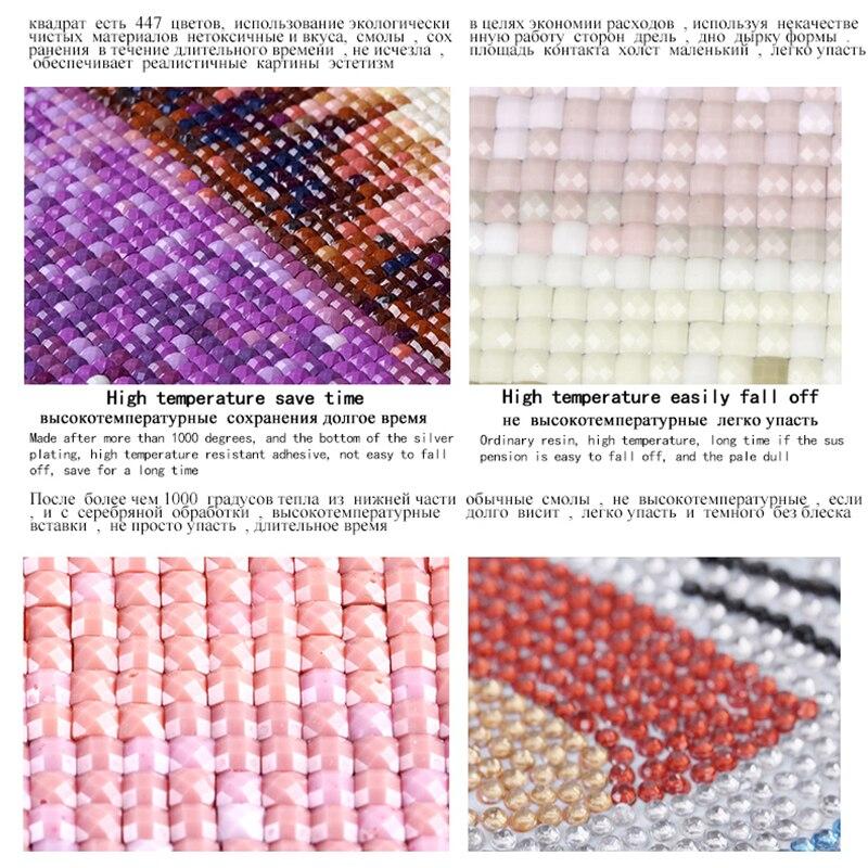 5D DIY Full square Diamond Painting Cross Stitch Snow deer Rhinestone Embroidery Mosaic home decor gift in Diamond Painting Cross Stitch from Home Garden
