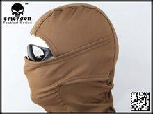 EMERSONGEAR – cagoule chauffante en polaire, airsoft, paintball CS, masque facial militaire wargame, EM6631B, peau de vache marron