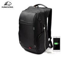 Kingsons Zewnętrzny USB Charge Packsack Plecak Anti-theft Notebooka Laptopa 15/17 inch Wodoodporna Torba Na Laptop dla Mężczyzn Kobiety