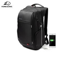 Kingsons внешний usb зарядки ноутбука рюкзак противоугонные ноутбук рюкзак 15/17 дюймов водонепроницаемый ноутбук сумка для мужчин женщин
