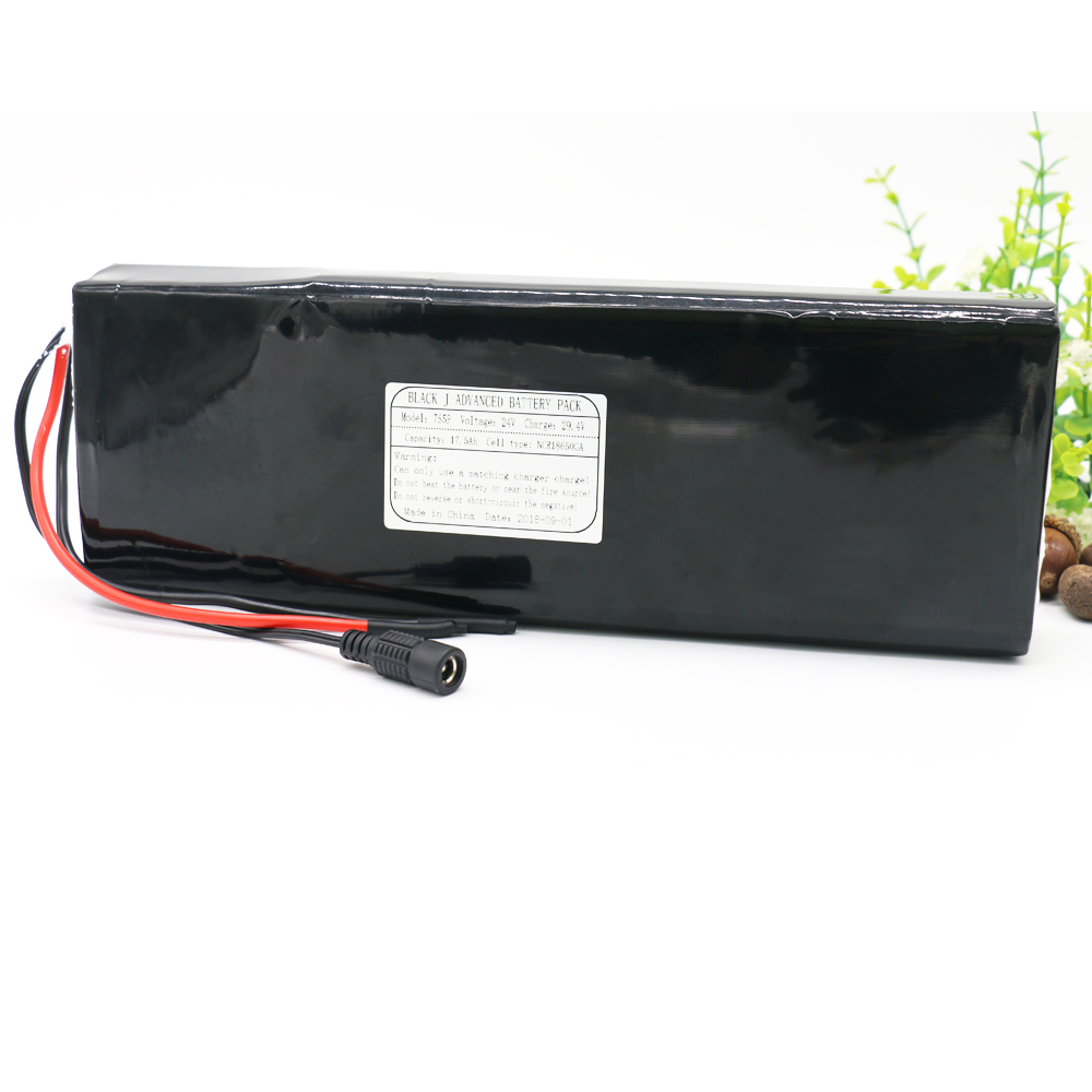 KLUOSI 7S5P 24V Battery 29.4V 17.5Ah NCR18650GA Li-Ion Pack with 20A BMS Balanced for Electric Motor Bicycle Scooter Etc