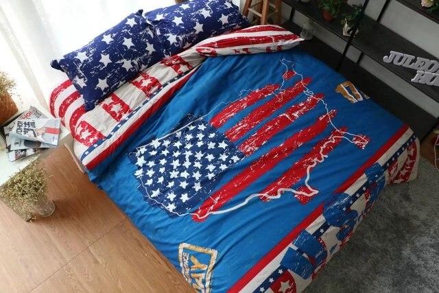 Copripiumino Matrimoniale Bandiera Inglese.Us 79 79 100 Cotone 4 Pz Usa Flag Letto Set Matrimoniale Biancheria Da Letto Copripiumini Bandiera Americana In 100 Cotone 4 Pz Usa Flag Letto Set