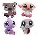 4pcs/lot Littlest TOY Pet lps  Plush Toy Cotton Doll Animal Collection Children DOLL Gift