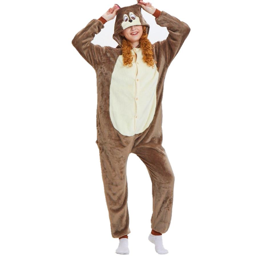 3eb526b2d4 Women Flannel Kigurumi Chipmunk Animal Onesie Pajamas Halloween Carnival  Masquerade Party Cosplay Costume on Aliexpress.com