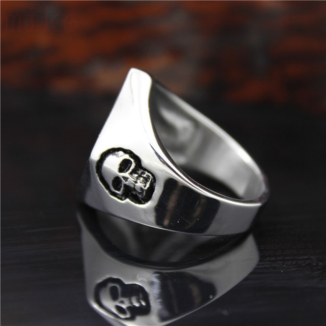 STAINLESS STEEL 13 GHOST SKULL RINGS
