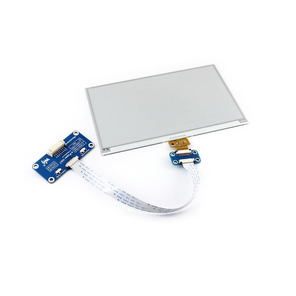 7.5 pouces Module d'affichage électronique pratique e-ink Interface SPI e-paper HAT bicolore avec contrôleur intégré pour Raspberry Pi