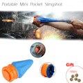Bolso Tiro Slingshot poderosa de Auto-defesa Ao Ar Livre Bola Redonda Dispositivo Copo Brinquedo Jogo de Tiro de Caça