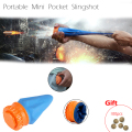 Powerful Outdoor Self-defense Pocket Shot Slingshot Round Ball Game Toy Shooting Cup Device Hunting