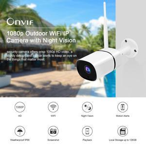 Image 2 - Jooanとonvif hd 1080p ipカメラワイヤレス無線lan弾丸カマラ屋外防水IP66ナイトビジョンirカットセキュリティ