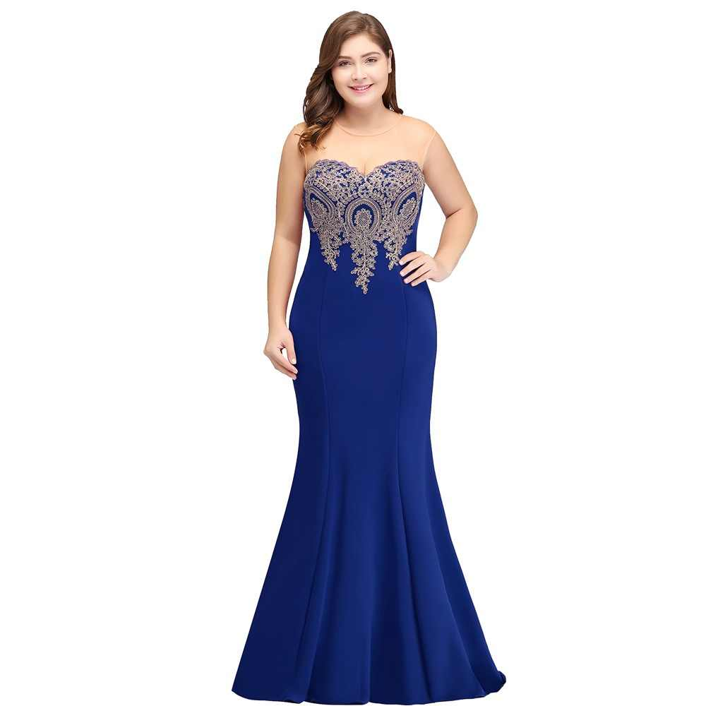 7377a1d20a7 Royal blue 2019 Mother Of The Bride Dresses Plus Size Mermaid Sleeveless  Satin Long Groom Mother