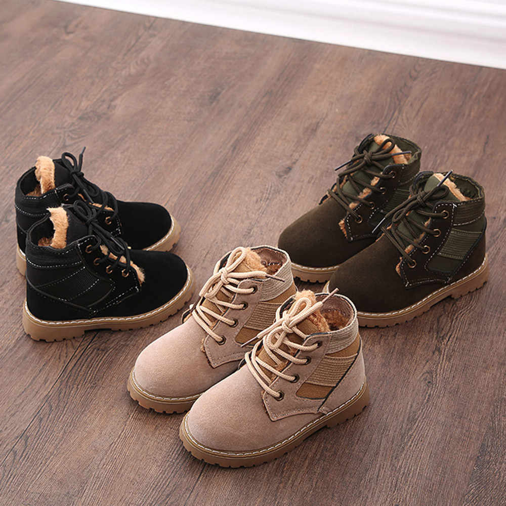 למעלה מכירת חג המולד 2018 חדש אופנה יילוד תינוק חורף מגפי רך מרטין נעל קצר שלג ילדים אנטי להחליק מגפי נעליים