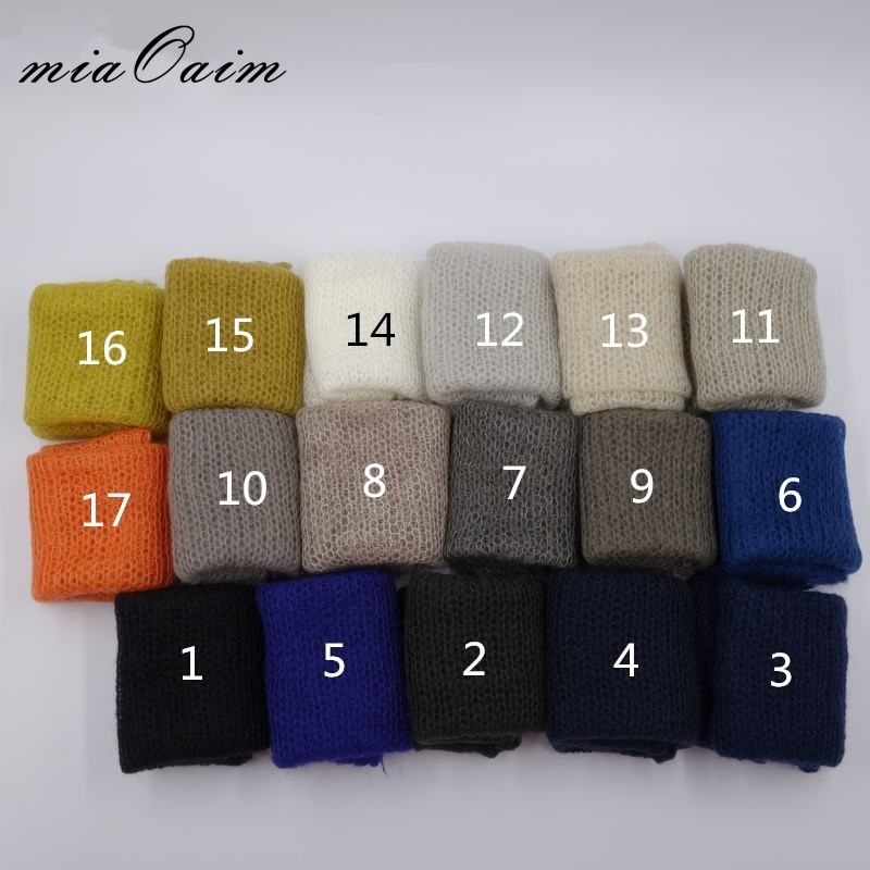 60*30cm Knit Mohair Wrap 10pcs/Lot Soft Little Mohair Wrap Scarf Newborn Size Newborn Photography Props Blanket Basket Stuffer цена 2017