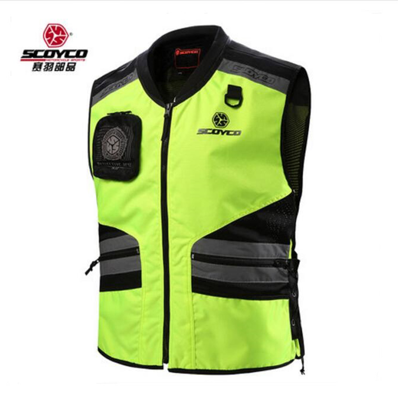 2018 New SCOYCO cross-country Motorcycle riding reflective vest Knight safety motorcycle vest male four seasons JK32 size M XXL adjustable pro safety equestrian horse riding vest eva padded body protector s m l xl xxl for men kids women camping hiking